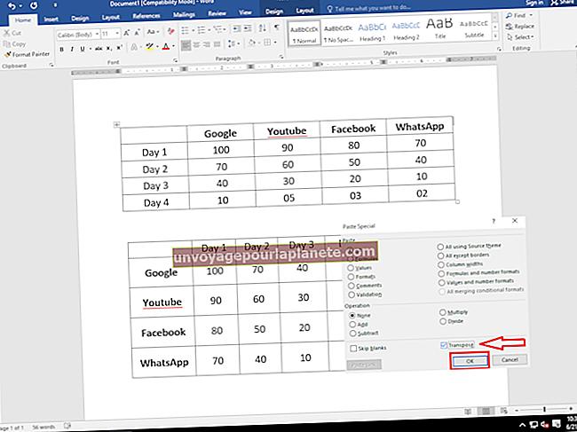 Como reconfigurar uma linha horizontal em uma coluna vertical no Excel