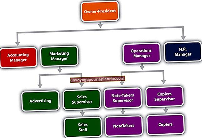 Posições hierárquicas em uma empresa típica