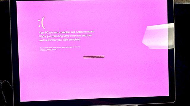 Como ajudar uma tela rosa em um computador